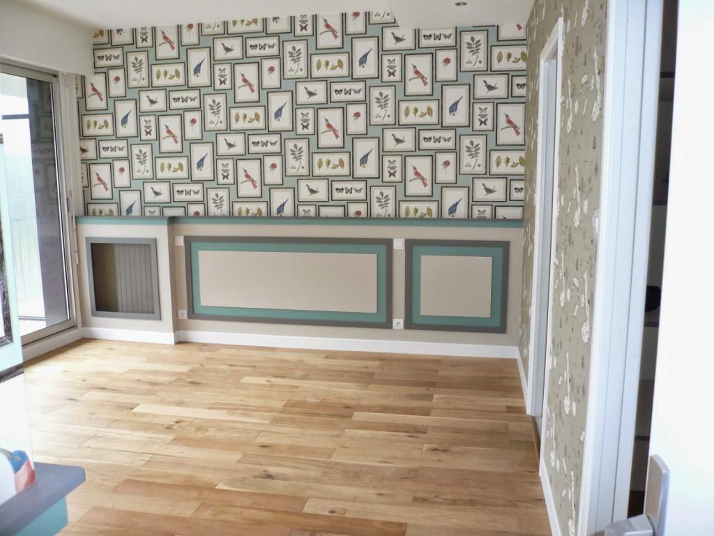 R habilitation d 39 un appartement dans un style contemporain - Creer son papier peint ...