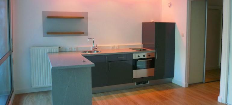 Cr ation d 39 une cuisine am ricaine avec jeux de lumi re for Decoration interieure cuisine americaine