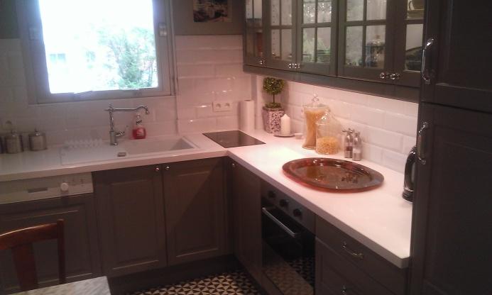 Extrêmement Rénovation d'une cuisine, ambiance bistro - Décoration intérieure  WE25